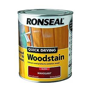 Ronseal Quick Drying Woodstain Mahogany Gloss 750ml