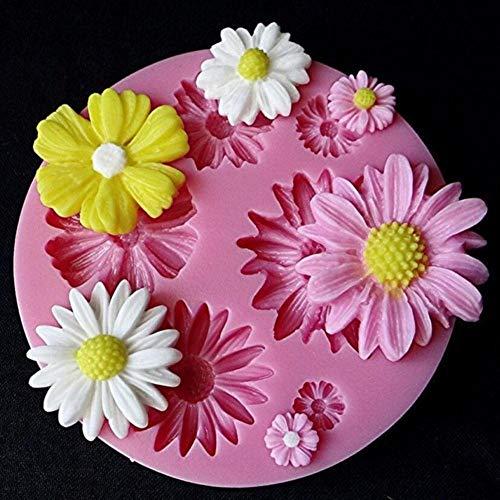 SJYM 1 stks 3d Bloem Siliconen Mallen Fondant Craft Cake Snoep Chocolade Ijs Gebak Bakken Tool Mold, bloem