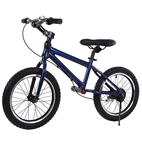 bici senza pedali Bici Senza Pedali Blu per Bambini dai 6 ai 12 Anni, Bicicletta da Allenamento con Pneumatici ad Aria da 16 Pollici con Sedile e Manubrio Regolabili in Altezza, Bicicletta da Allename