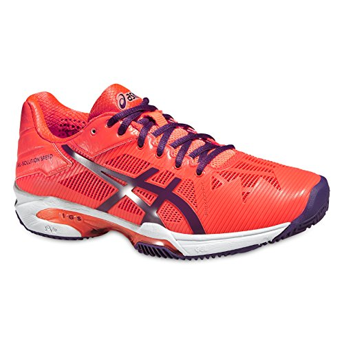 Asics Gel-Solution Speed 3 Clay, Zapatillas de Tenis para Mujer, Naranja Violet, 35.5 EU