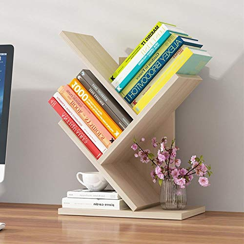 Kmai Student Bücherregal Lagerregal Bücherregal Baum Vitrine Robust und schön Robust und schön Bücherregal, 3 Schichten Sakura Ahorn