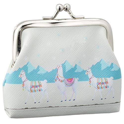 ka Mini Lama Geldbörse mit Clip Kinder Portmonee Portemonnaie Geldbeutel Clutch blau