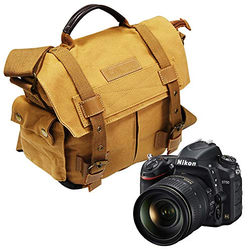 Tepoinn Borsa in tela per fotocamera Reflex SLR, con protezioni anti pioggia, per Canon, Sony, Nikon, Olympus, a tracolla