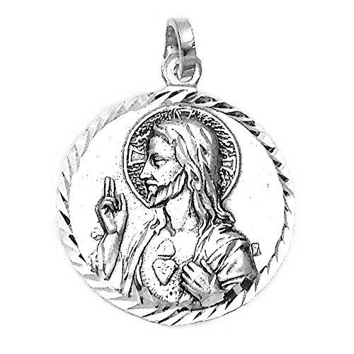 Medalla Plata Ley 925M Escapulario 21mm. Unisex