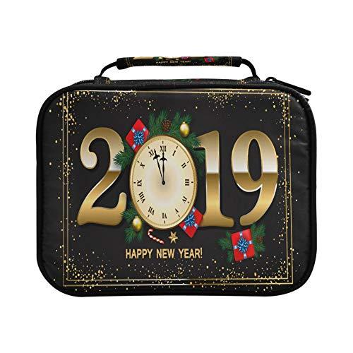 Estuche de regalo para reloj de Año Nuevo 2019, con capacidad para 96 lápices o 64 bolígrafos de gel, gran capacidad, con cremallera, gran regalo para estudiantes y artistas