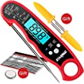 STARNUO Meat Thermometer, Instant Read Food Digital Thermometer with Waterproof Backlight & Calibration for Kitchen Outdoor Cooking Grilling BBQ Smoker