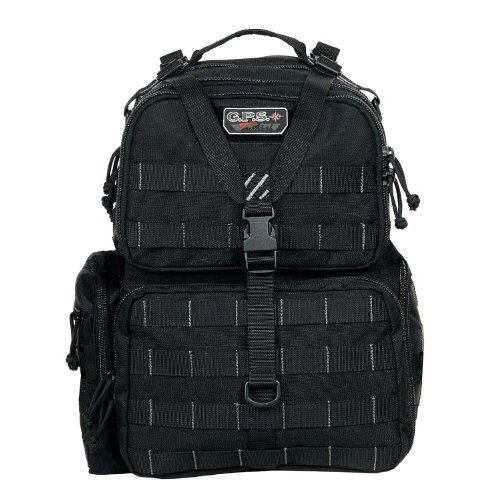 G.P.S. Tactical Range Backpack, Black, Large