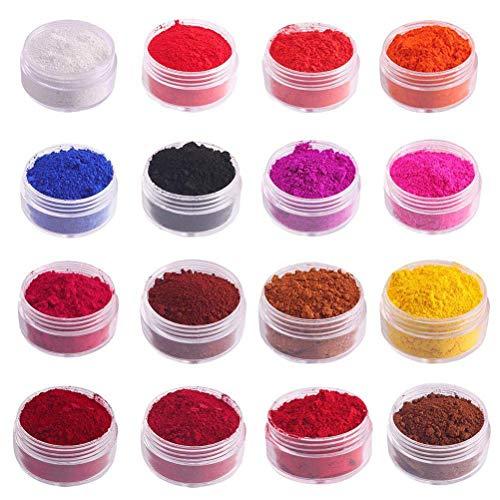 Merkts 16-farbige essbare Lippenstift-Pigment-Pulver, Pigmente, DIY, natürliches Mineralpuder, für...