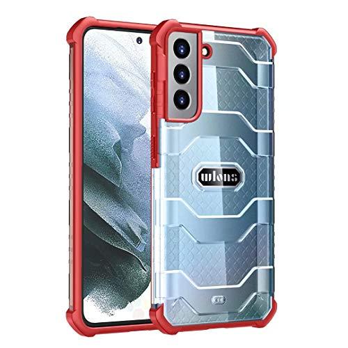 Funda para Samsung Galaxy Note 20 Ultra, 360 grados de cuerpo completo, híbrido transparente, a prueba de golpes, resistente, resistente, doble capa, para Samsung Galaxy Note 20, color rojo
