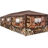 TecTake 403122 - Pabellón 3x9m, Cenador para Eventos y Fiestas, Estilo Cabaña de Esquí, Refugio Alpino