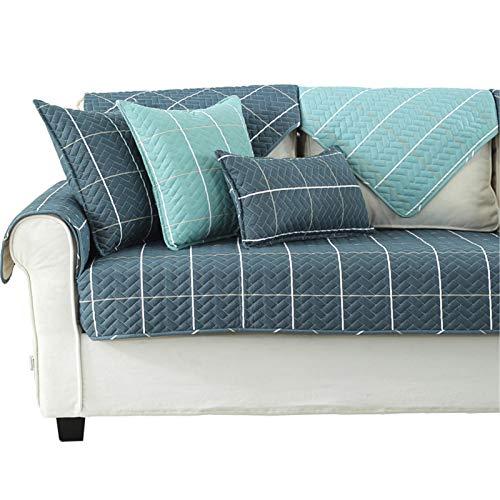 Tapa de sofá de tela Spandex Tela Sofá acolchado Cubierta de toalla PET PET A prueba de orina Sofá Cojín Estilo nórdico Cojín de algodón grueso Sofá Sofá Cojín para la mayoría de los tipos de sofás