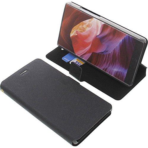 foto-kontor Tasche für Bluboo S1 Book Style Ständer Schutz Hülle Buch schwarz