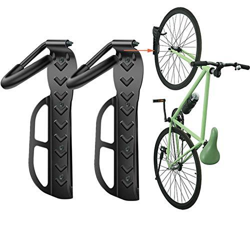Wallmaster Bike Rack Garage Wall Mount Bicycles 2-Pack Storage System Vertical Bike Hook for Indoor