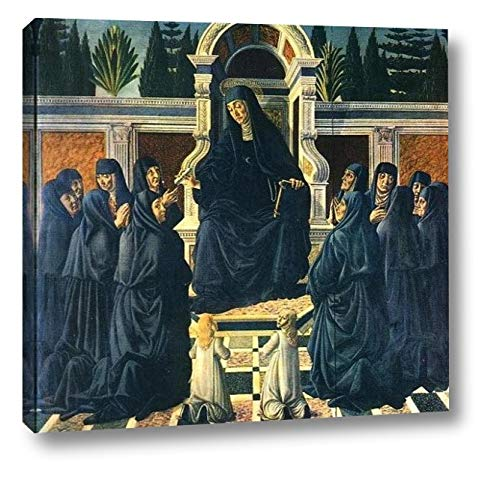 "Saint Monica by Andrea Del Verrocchio - 15"" x 16"" Gallery Wrap Canvas Art Print - Ready to Hang"