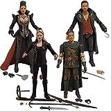 Once Upon A Time: Hook, Emma Swan, Regina, and Robin Hood Action Figure Set of 4