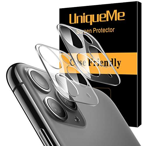 [2 Pack] UnqiueMe Panzerglas Kamera für iPhone 11 Pro/iPhone 11 Pro Max Kamera Schutzfolie Linse, Rücklichtfolie [Blasenfrei] HD klar Folie gehärtetes Glas