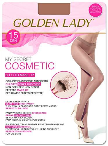 GOLDEN LADY Mysecret 15 Cosmetic Collant, 15 DEN, Oro (Bronzer K30a), Small (Taglia produttore:2 – S) Donna