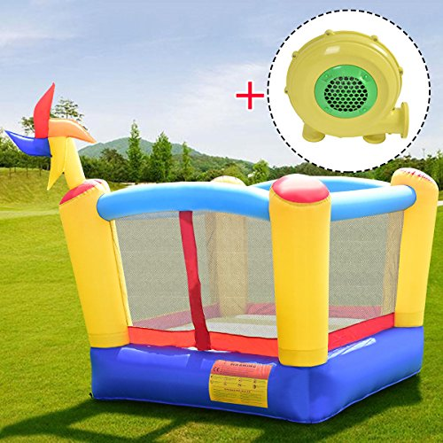 COSTWAY Inflatable Bouncy Castle Kids Bouncer Jumping House Play Fun (W/Blower)