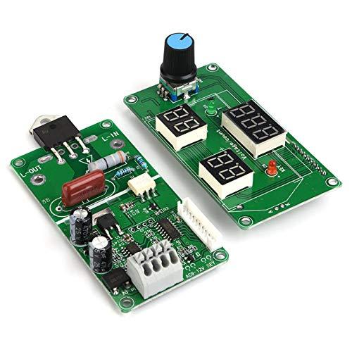Módulo de control de la soldadora por puntos, tablero de control de la soldadora por puntos, LCD digital 40A, 100A (opcional) para paquetes de baterías Soldadora de batería simple(40A)