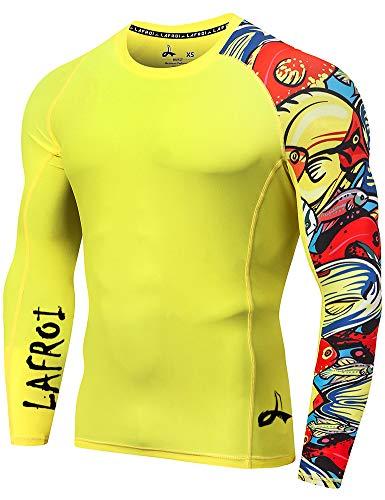 Lafroi - Camiseta térmica de licra, de compresión, para hombre, de manga...