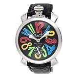 [ガガミラノ] 腕時計 ブラック文字盤 裏蓋スケルトン 手巻き 5010.02S-BLK 並行輸入品 ブラック