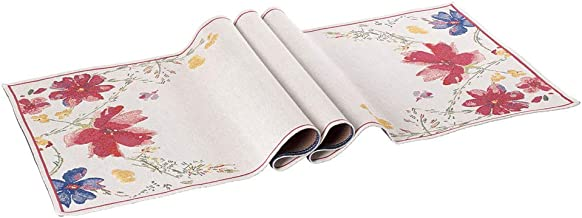 Villeroy & Boch 35 9083 Decorative Textile Accessories Mariefleur Tapestry Runner, 70 Cotton 30 Percent Polyester, White