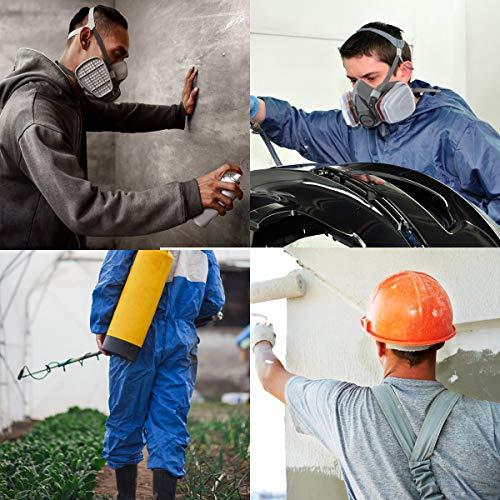 NASUM Facial Cubierta para Pintura en Aerosol, Polvo, Lijado a Máquina, Formaldehído, Protección con Filtros