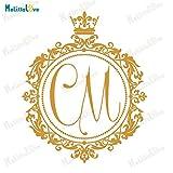 Kreis Aufkleber benutzerdefinierte personalisierte erste Hochzeit Design Boden Dekoration Vinyl Tanz Aufkleber abnehmbare Hochzeit Aufkleber S 125 X 152 cm