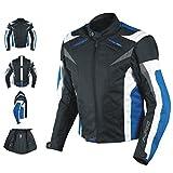 A-Pro, giacca da motociclista CE con Protezioni, termica, Blu, L