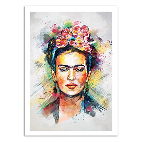 WALL EDITIONS Art-Poster - Frida Kahlo - Tracie Andrews - Format : 50 x 70 cm