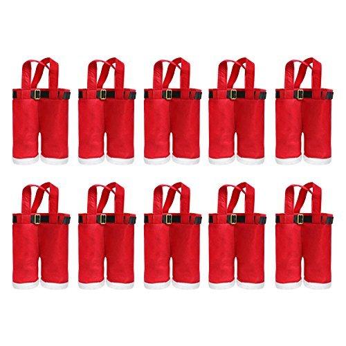 Robelli 10 x Babbo Pants Natale Portabottiglia per Vino Borsa Portatile