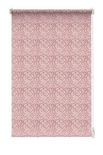 Gardinia Rollo zum Klemmen oder Kleben, Tageslicht-Rollo, Blickdicht, Alle Montage-Teile inklusive, EASYFIX Rollo Marrakesch, Rosa, 100 x 150 cm (BxH)