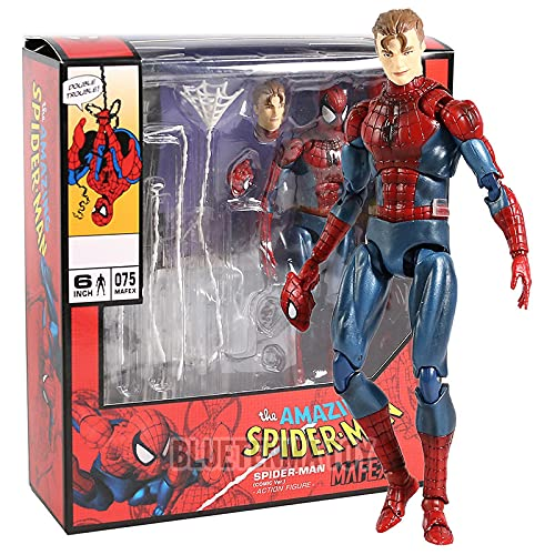 Marvel Avengers Spiderman Maf075 The Amazing Spider Man Figure Action PVC Figure Collezione Di Giocattoli Modello Come Regali per Bambini