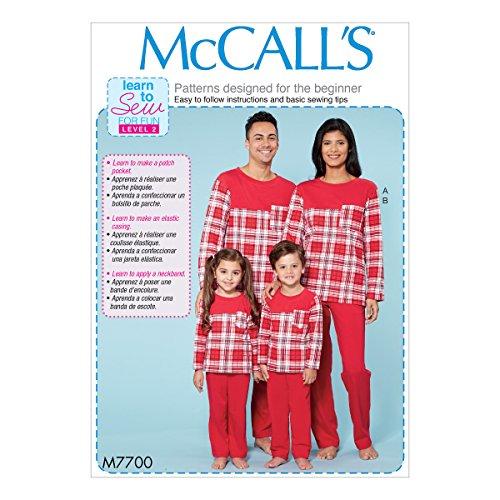 Mccall's Patronen Heren/Missen/Jongens/Meisjes/Kind Top en Broek, Tissue Multi-Colour, 17 x 0.5 x 0.07 cm