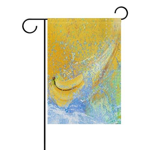 Bennigiry Fruits Banane Polyester Garden Drapeau Bannière 30,5 x 45,7 cm, Seasonal Jardin Drapeau pour l'extérieur décoratif Drapeau pour mariage, Polyester filé, multicolore, 28x40(in)