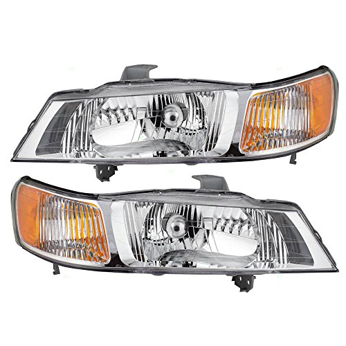Headlights Headlamps Driver and Passenger Replacements for 99-04 Honda Odyssey Van 33151-S0X-A01 33101-S0X-A01