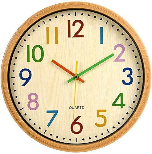 Lisedeer 30,5 cm 12 Pulgadas, Moderno Reloj de Pared silencioso para niños y niñas