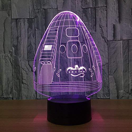 LED 3D Ilusión lámpara de ilusión óptica para Space capsule Gift Darling In The Best Birthday Holiday Gifts For Children Con interfaz USB, cambio de color colorido