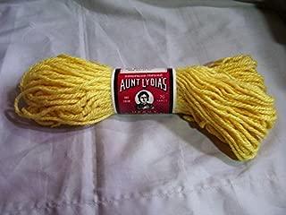Yellow Aunt Lydia's Heavy Rug Yarn - 70 Yards