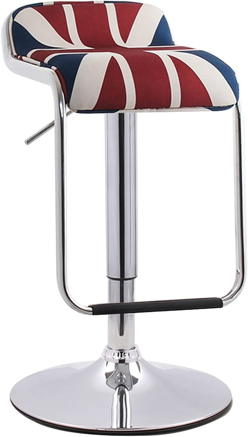 Nationwel@ PU Leather Adjustable Swivel Gas Lift Bar Stools,360 Degree redary,Max Weight Capacity 130kg,12 colors (color   White, Size   38.5cm)