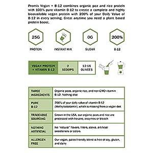 PROMIX Premium Vegan Protein + B12, Organic Complete Protein Plant Based Blend, Gluten-Free, Soy Free, 5lb Bulk #5