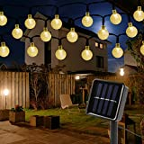 Mitening Guirnaldas Luces Solar, 30 LED 6,5M Cadena Solar de Luces, IP65 Impermeable 8 Modos Luces Decorativas, Guirnalda Luminosas para Jardines, Casas, Boda, Fiesta[Clase de eficiencia energética A]