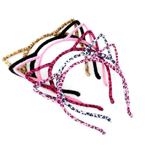 Frcolor Katze Ohr Stirnband Haarband für Party und tägliche Dekoration Pack 6