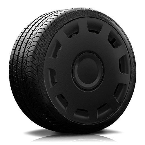 Autoteppich Stylers (Farbe & Größe wählbar) 16 Zoll Radkappen Granit Schwarz passend für Fast alle gängingen Fahrzeuge (universal)