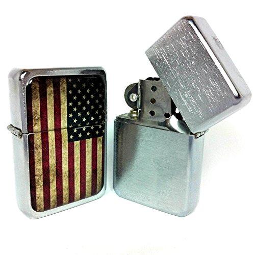 Accendino tipo zippo - USA vintage flag