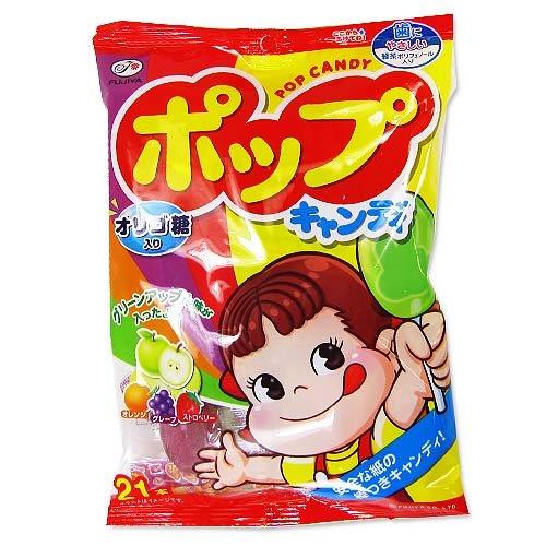 【お菓子のバラ売り】 不二家 ポップキャンディ (21本入)