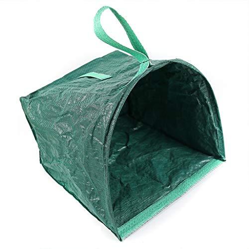 LDA Erhalten Sie frische Rasen-Blatt-Taschen Wiederverwendbarer Garten-Nicht gesponnener Schaufel-Faltbarer Yard-Abfall-Rückstand-Behälter Gartenarbeit-Abfallbeutel, Gartentasche, Blatt-Schaufel-Grün