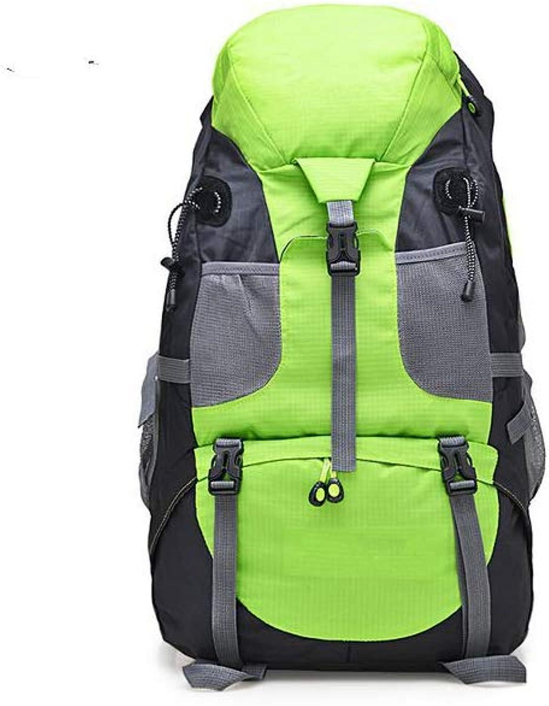 XTUNWM 50L Nylon Waterproof Backpack Outdoor Mountaineering Hiking Backpack Large Mountaineering Backpack