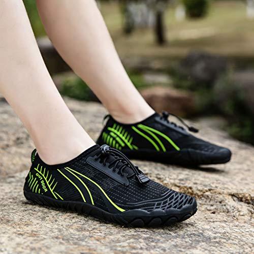 DATOU Zapatos Running Minimalista Los Hombres Descalzos para Hombres Descalzos Zapatos Agua de Secado Rápido Antideslizantes(Size:44,Color:1)