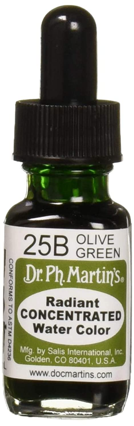 Dr. Ph. Martin's Radiant Concentrated Water Color, 0.5 oz, Olive Green (25B) gpuzawucdl1670